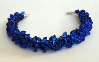 Pop on Top Cobalt Bracelet